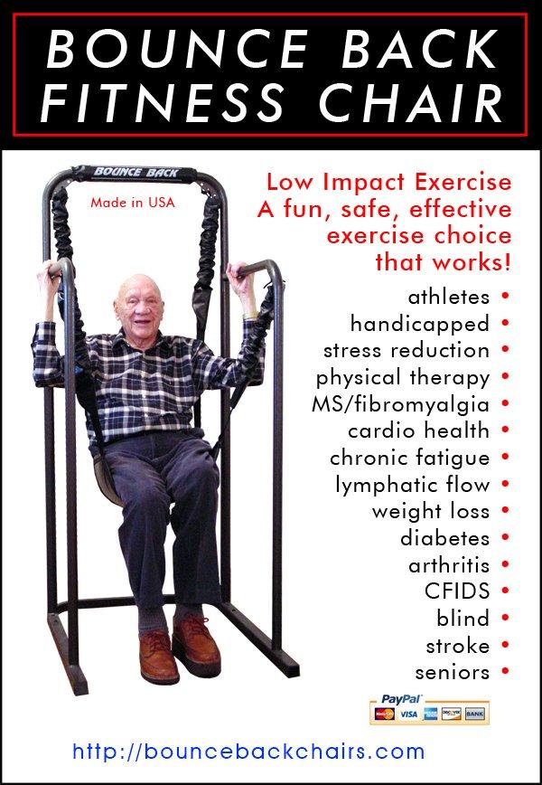 Bounce Back Chair Rebounding Exercise Equipment